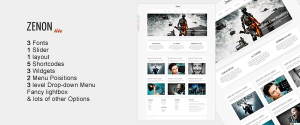 Zenon Lite - Free WordPress Theme